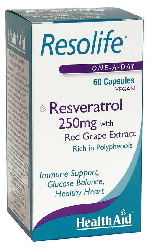 Health Aid Resolife (Resveratrol 250mg with red wine extract)